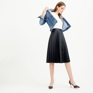 J. Crew Pleated Faux Leather Dress